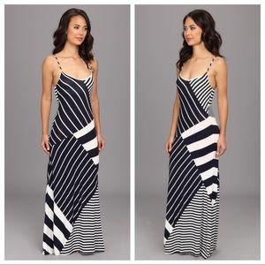 Vince Camino Striped Navy Maxi Dress - EUC!